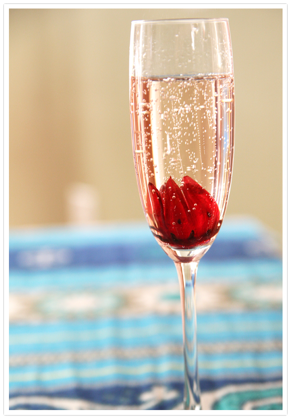 Sparkling Hibiscus Champagne Cocktail Muy Bueno Cookbook