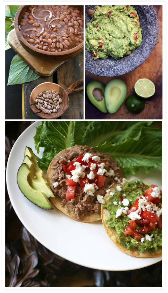 Refried Bean and Guacamole Tostadas - Muy Bueno Cookbook
