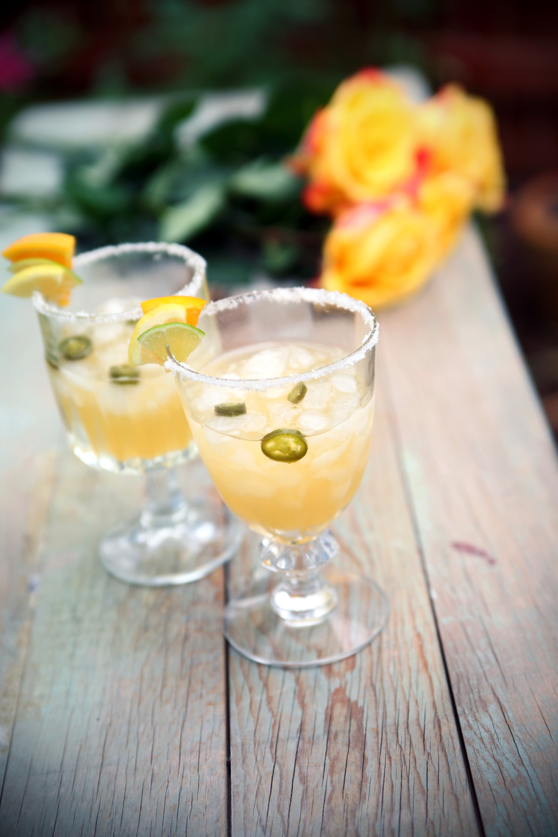 is the final version of this yummy bright and spicy citrus margarita ...